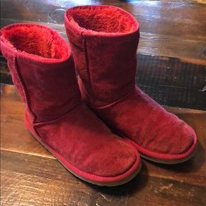 Fun Red Ugg boots size 8
